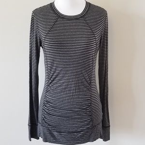 CAbi | Tech Running Long Sleeve Striped Top